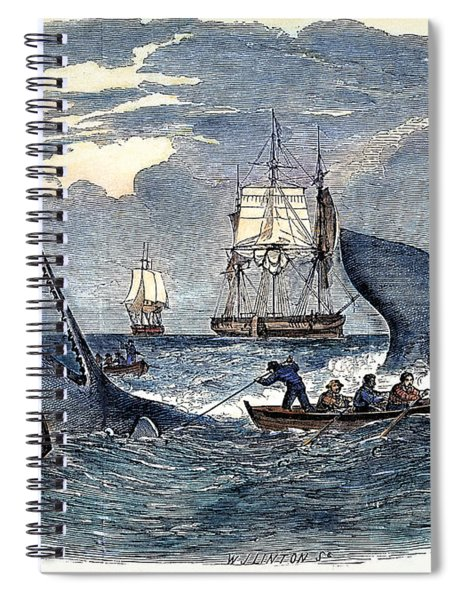 Whaling In South Pacific Spiral Notebook