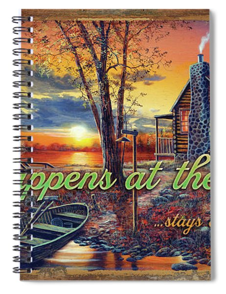 What Happens At The Cabin Spiral Notebook