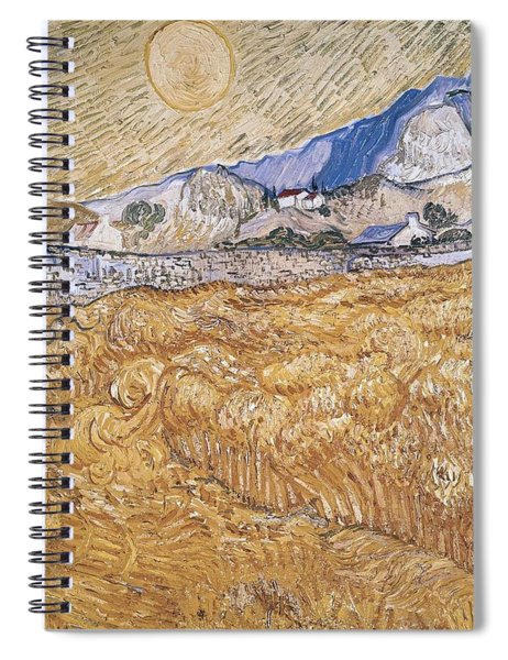 Wheat Field With Reaper Harvest In Provence Spiral Notebook