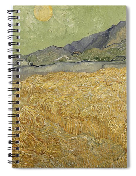 Wheatfield With Reaper Spiral Notebook