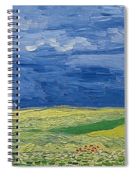 Wheatfields Under Thunderclouds Spiral Notebook