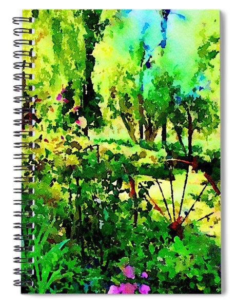 Wheel Garden Spiral Notebook