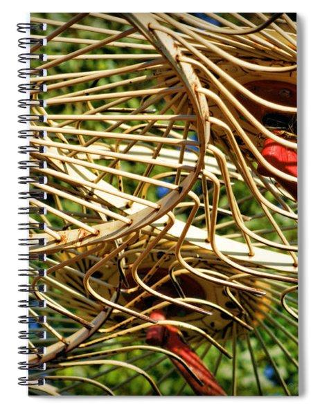 Wheel Rake Abstract Spiral Notebook