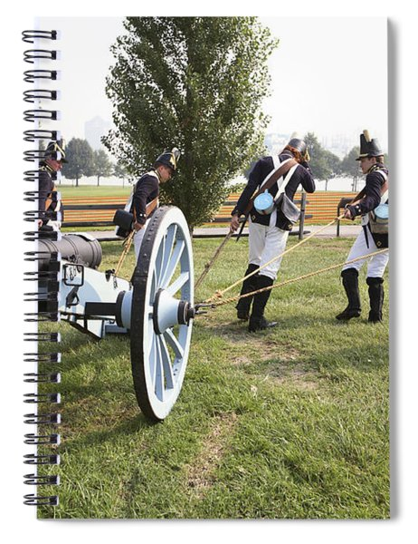 Wheeling The Cannon At Fort Mchenry In Baltimore Maryland Spiral Notebook