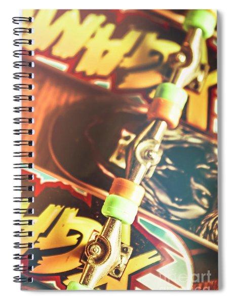 Wheels Trucks And Skate Decks Spiral Notebook