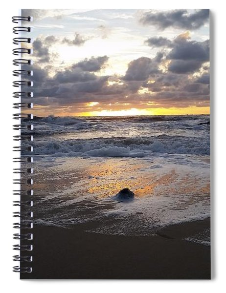 Whelk Shell And Sunrise Spiral Notebook