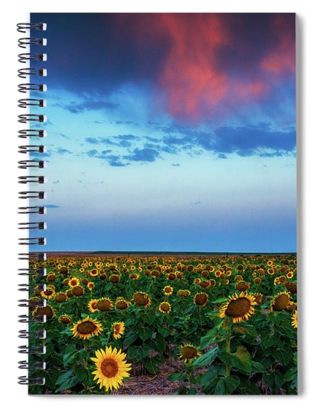 Spiral Notebook featuring the photograph When Clouds Dance by John De Bord