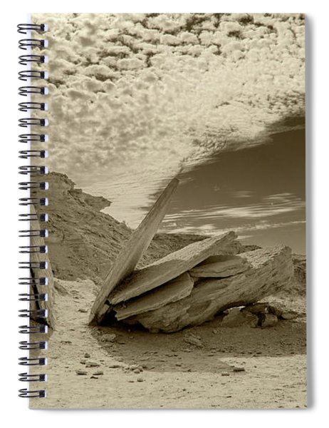 Spiral Notebook featuring the photograph When God Cuts Slices..... by Arik Baltinester