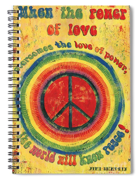 When The Power Of Love Spiral Notebook