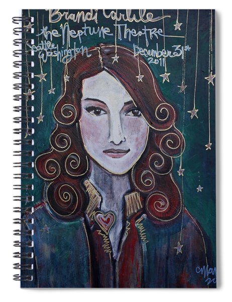 When The Stars Fall For Brandi Carlile Spiral Notebook