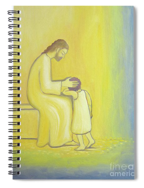 When We Repent Of Our Sins Jesus Christ Looks On Us With Tenderness Spiral Notebook