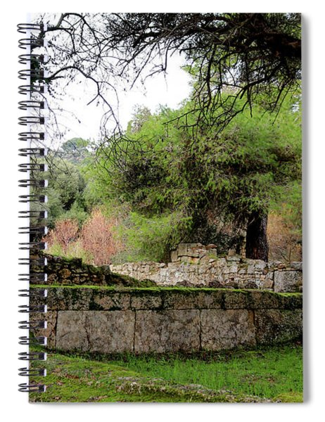 Where The First Olympics Took Place - Ancient Runis Of Olympia Spiral Notebook