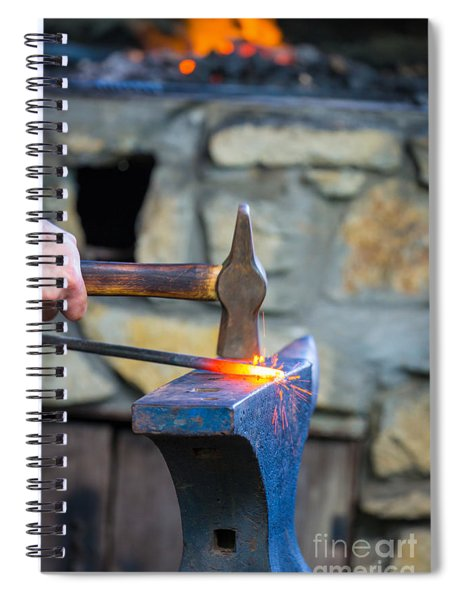 While The Iron Is Hot Spiral Notebook