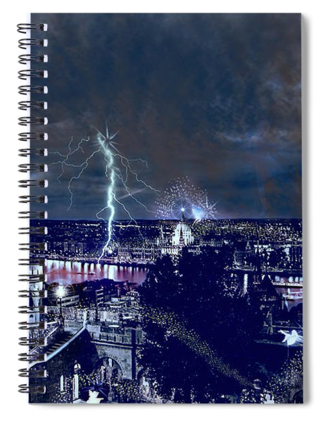 Whimsical Budapest Spiral Notebook