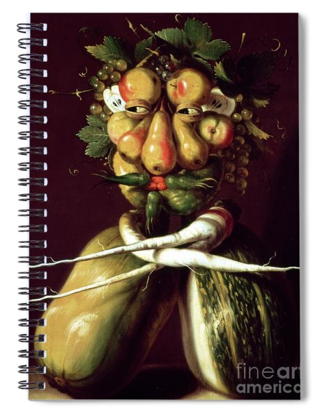 Whimsical Portrait Spiral Notebook
