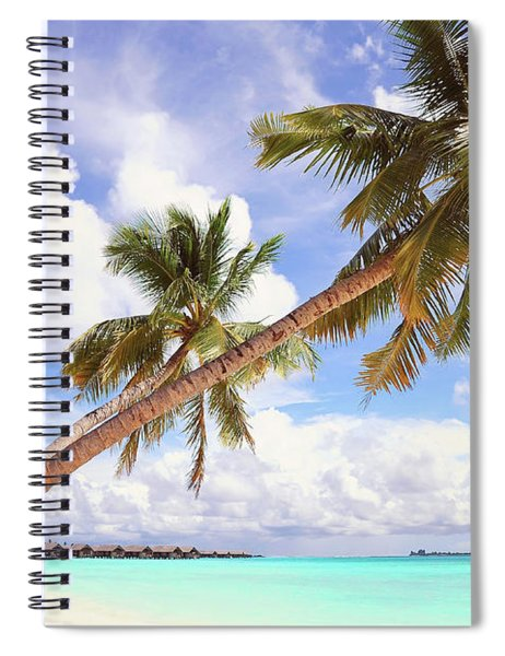 Whispering Palms. Maldives Spiral Notebook