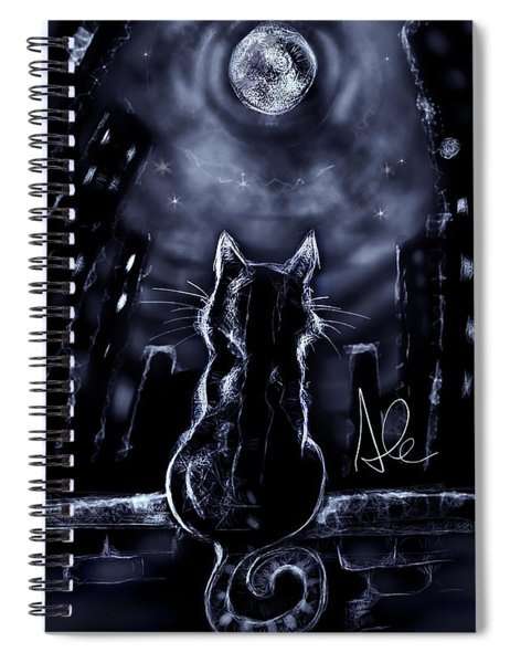 Whispering To The Moon Spiral Notebook