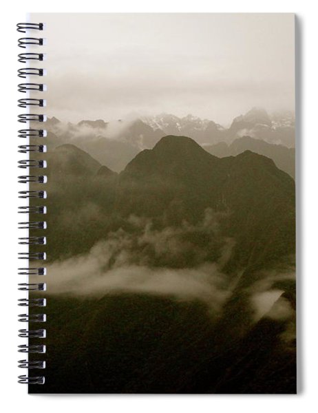 Whispers In The Andes Mountains Spiral Notebook