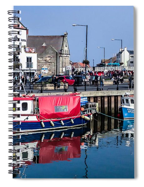 Whitby Harbor, United Kingdom Spiral Notebook