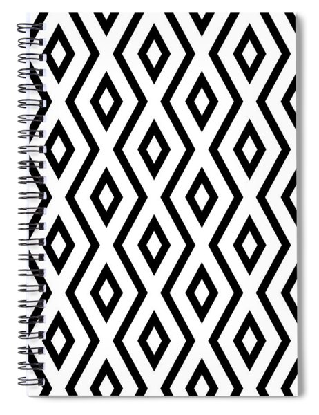White And Black Pattern Spiral Notebook