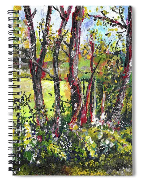 White And Yellow - An Unusual View Spiral Notebook