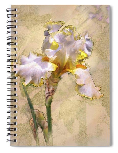 White And Yellow Iris Spiral Notebook