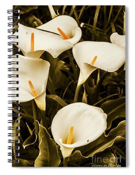 White Calla Lilies Spiral Notebook