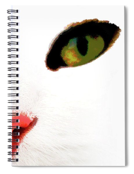 White Cats Face Spiral Notebook