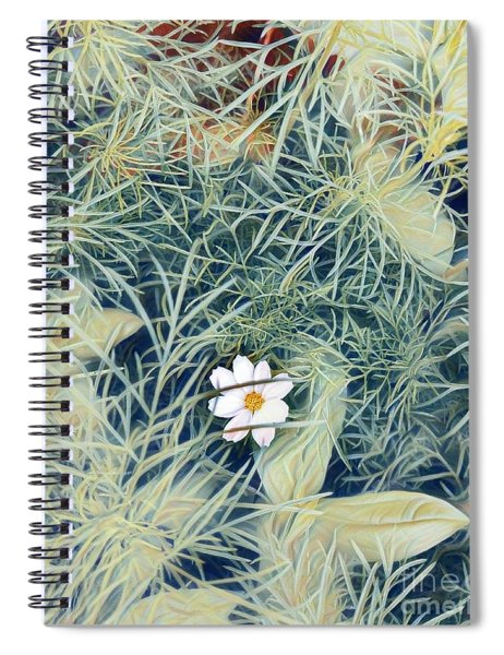 White Cosmo Spiral Notebook