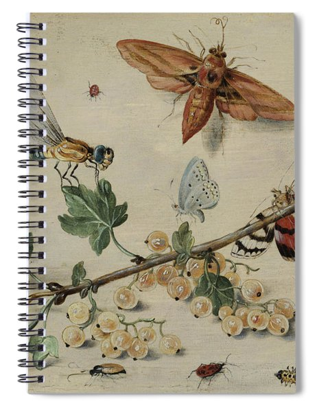 White Currants And Insects Spiral Notebook