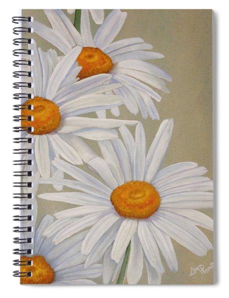 White Daisies Spiral Notebook