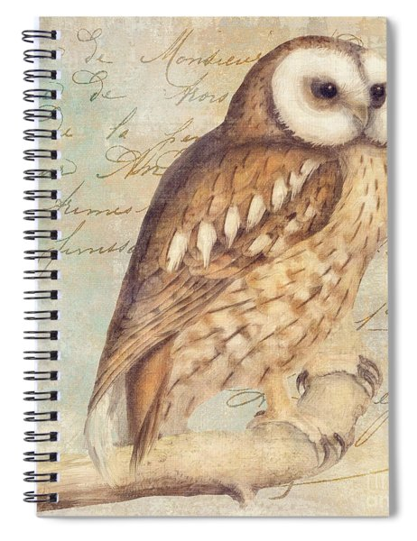 White Faced Owl Spiral Notebook