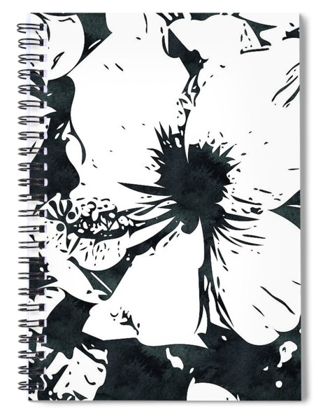 White Hibiscus- Art By Linda Woods Spiral Notebook