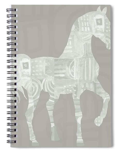 White Horse 1- Art By Linda Woods Spiral Notebook