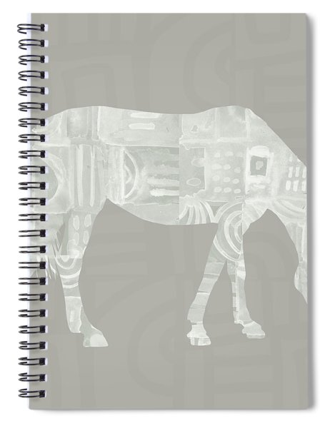 White Horse 2- Art By Linda Woods Spiral Notebook