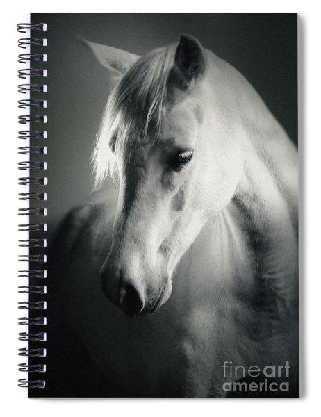 White Horse Head Art Portrait Spiral Notebook