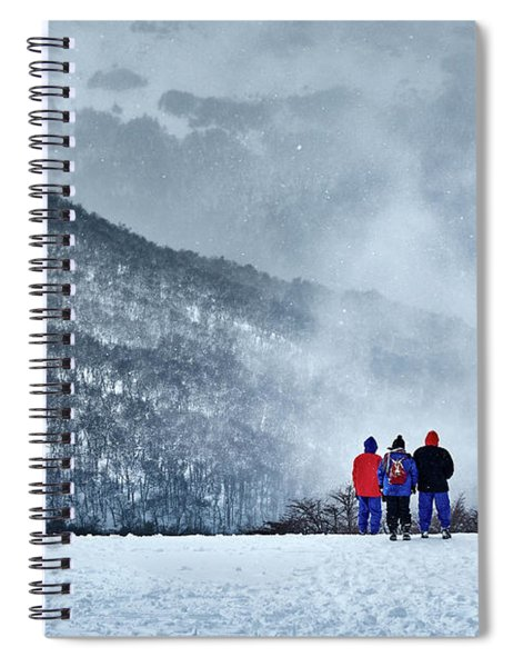 White Landscape In The Frozen Paradise In The Argentine Patagonia Spiral Notebook