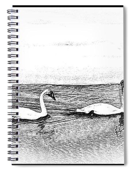 White Light Spiral Notebook