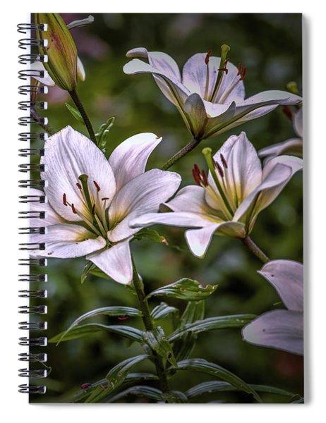 White Lilies #g5 Spiral Notebook