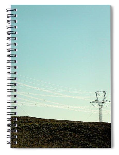 White Lines Spiral Notebook