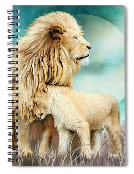 White Lion Family - Protection Spiral Notebook