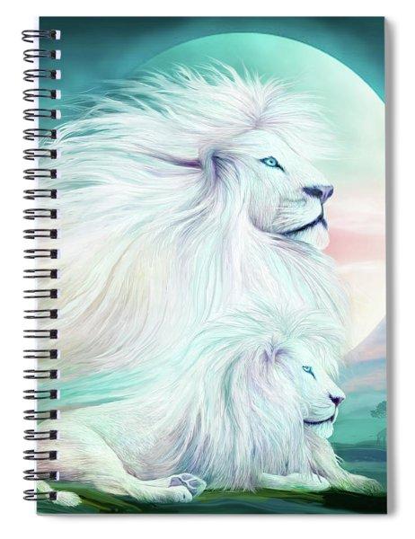 White Lion - Spirit King Spiral Notebook