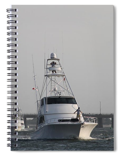 White Marlin Open Boats Spiral Notebook