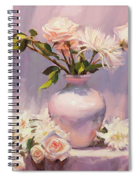 White On White Spiral Notebook by Steve Henderson