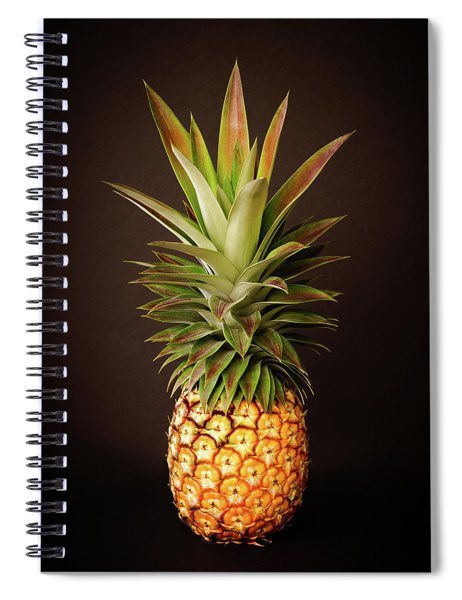 White Pineapple King Spiral Notebook