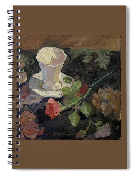 White Porcelain And Roses Spiral Notebook