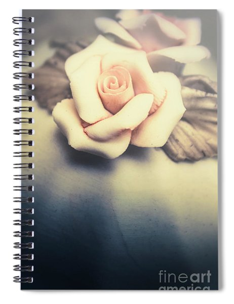White Porcelain Rose Spiral Notebook