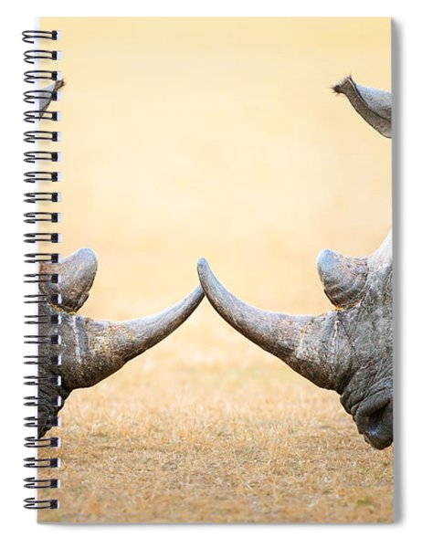 White Rhinoceros  Head To Head Spiral Notebook