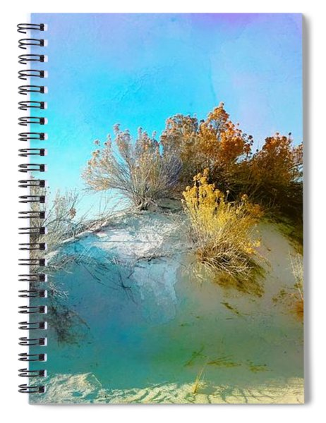 White Sand Dunes Vegetation Spiral Notebook