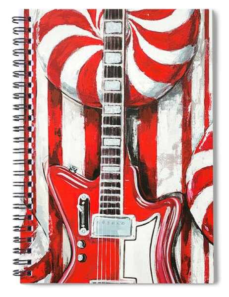 White Stripes Guitar Spiral Notebook